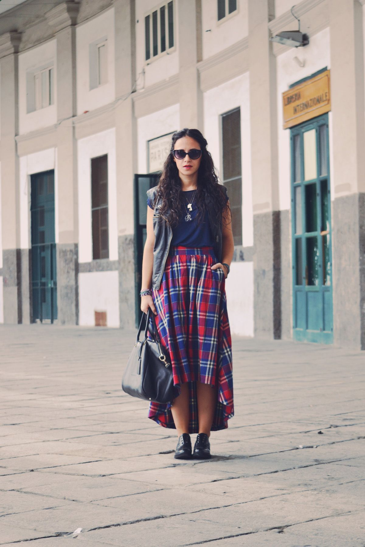 tartan skirt outfit