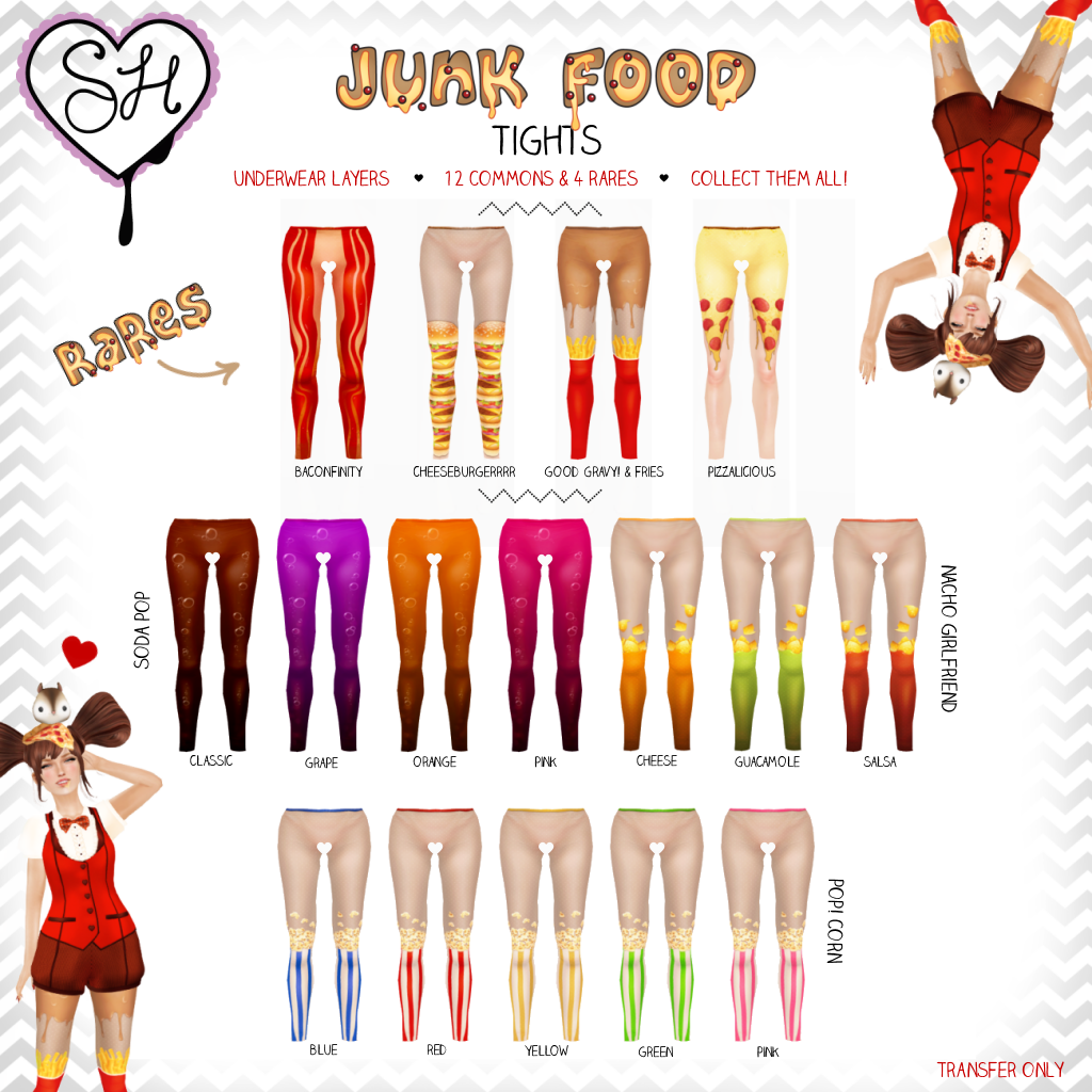 {Sugar Heart} Junk Food Tights @ The Arcade