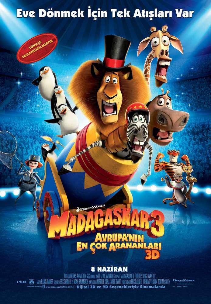 Madagaskar 3 Avrupan�n En �ok Arananlar� - 2012 BDRip XviD - T�rk�e Dublaj Tek Link indir