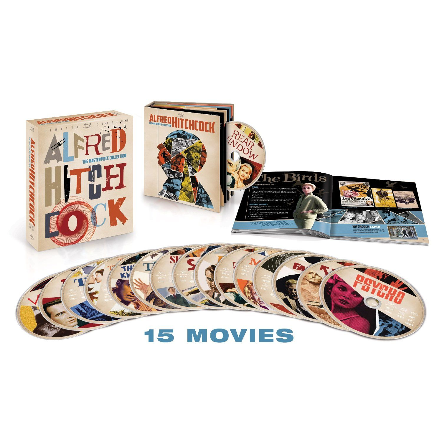 Alfred Hitchcock Collection Parte 1 (5 Blu-Ray) [1942\1955] Full Blu-Ray AVC DTS-HD MA 2.0