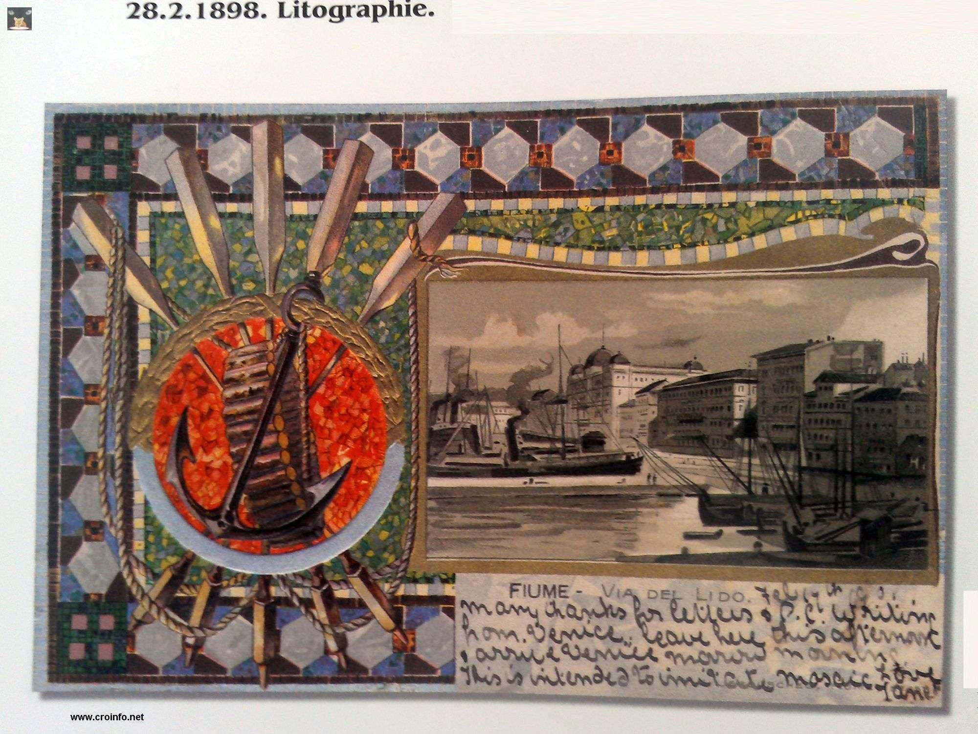 litografija Rijeke 1898. godine