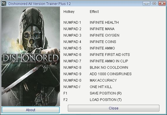 Dishonored [All Versions] +12 Trainer [Grizzly]
