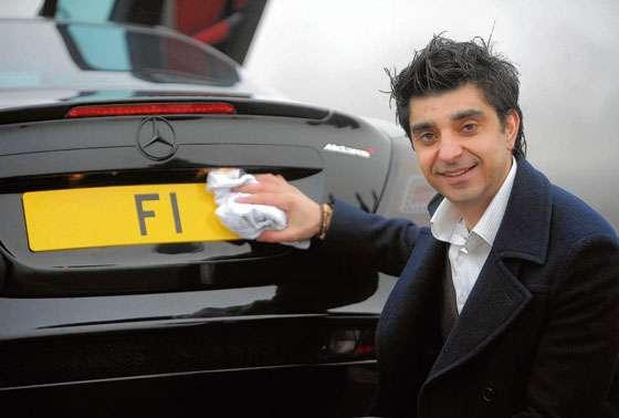"""Afzal Kahn """"F1"""" plate Mercedes-Benz SLR McLaren"""