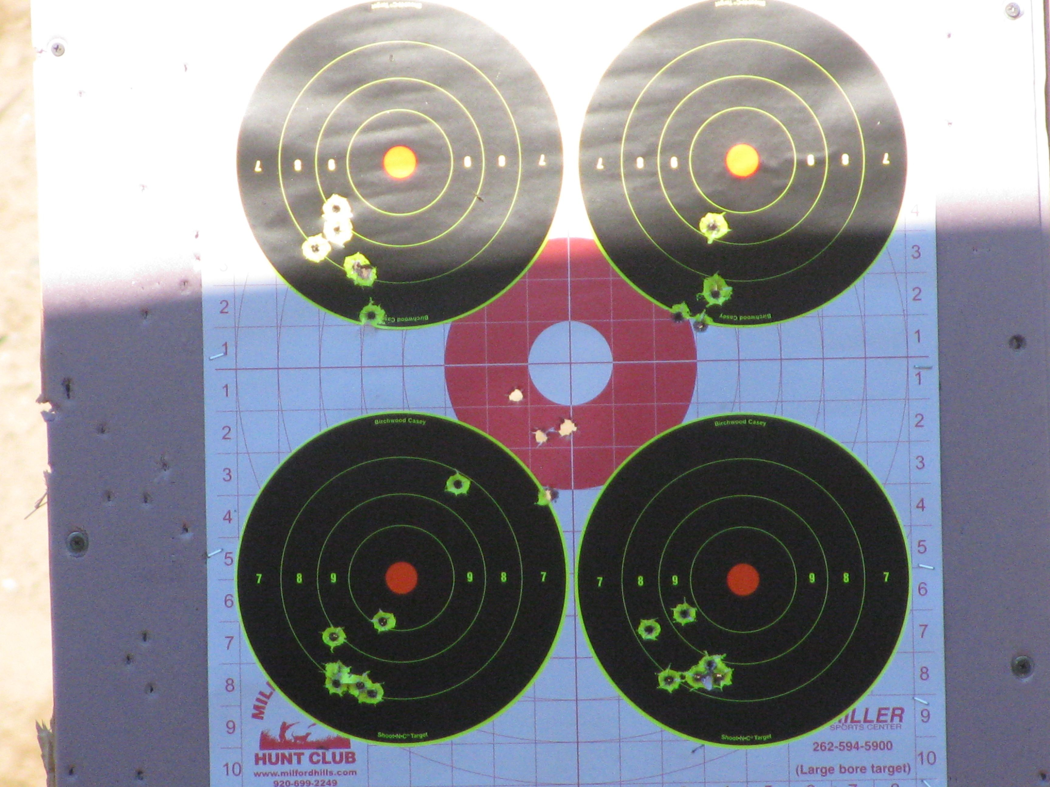 Wife's new savage ruger 44 carbine and vaquero's - Range Report