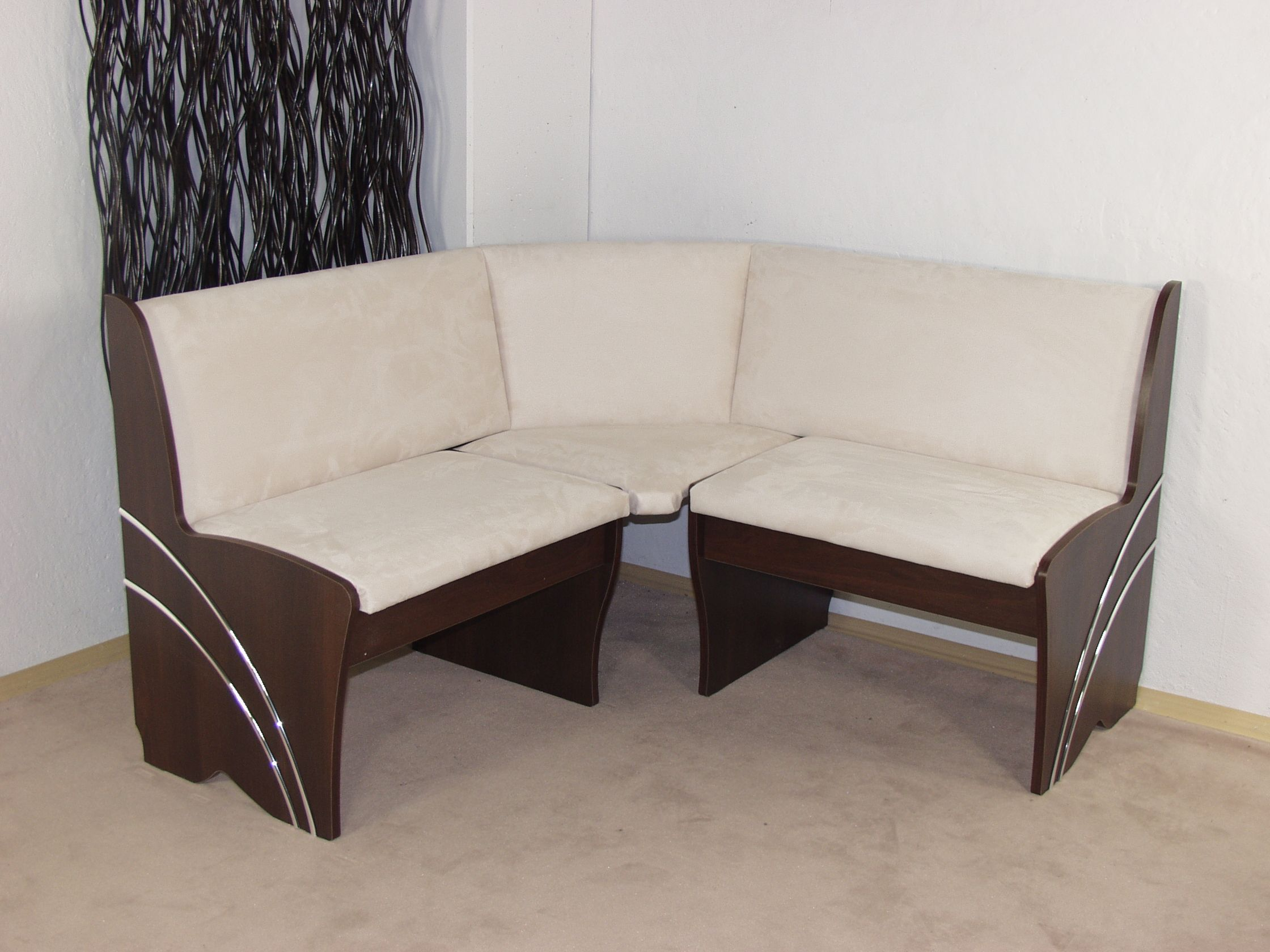 truheneckbank gleichschenklig nu baum dunkel creme eckbank sitzecke k che neu ebay. Black Bedroom Furniture Sets. Home Design Ideas