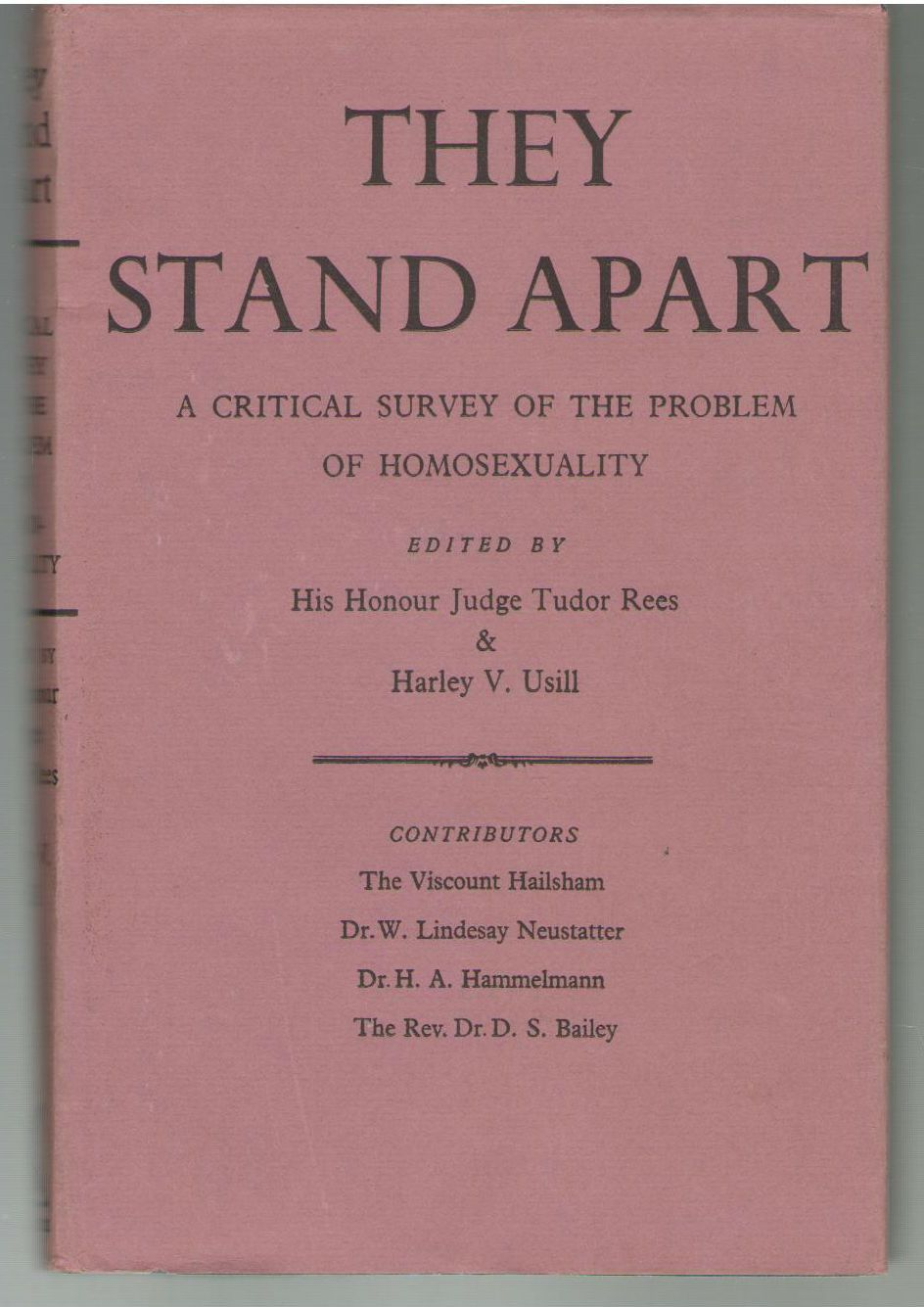 They Stand Apart: A Critical Survey of the Problems of Homosexuality