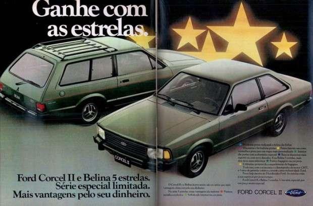 Ganhe com as estrelas. Ford Corcel II e Belina 5 estrelas. Série especial limitada. Mais vantagens pelo seu dinheiro.