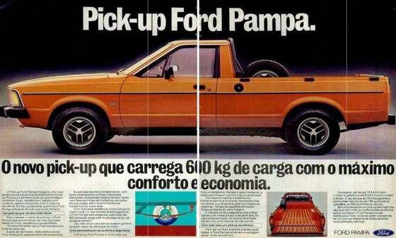Pick-up Ford Pampa. O novo pick-up que carrega 600 kg de carga com o máximo de conforto e economia.