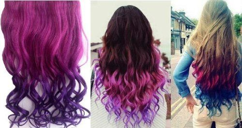 ombre curly hair extension 02