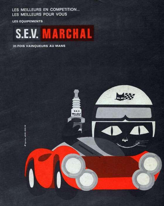 Les meilleurs en competition... les meilleurs pour vous. Les equipements S.E.V. Marchal. 35 fois vainqueurs au Mans.