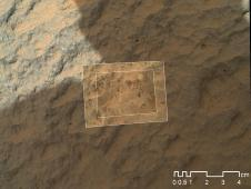 This image combines photographs taken<br /> by the Mars Hand Lens Imager (MAHLI)<br /> at three different distances from the<br /> first Martian rock that NASA&#39;s<br /> Curiosity rover touched with its arm.<br /> Image credit: NASA/JPL-Caltech/MSSS <br /> <span style='color: #0000FF'><a href='http://www.nasa.gov/mission_pages/msl/multimedia/pia16221.html' class='bbc_url' title='External link' rel='nofollow external'>� Full image and caption</a></span>