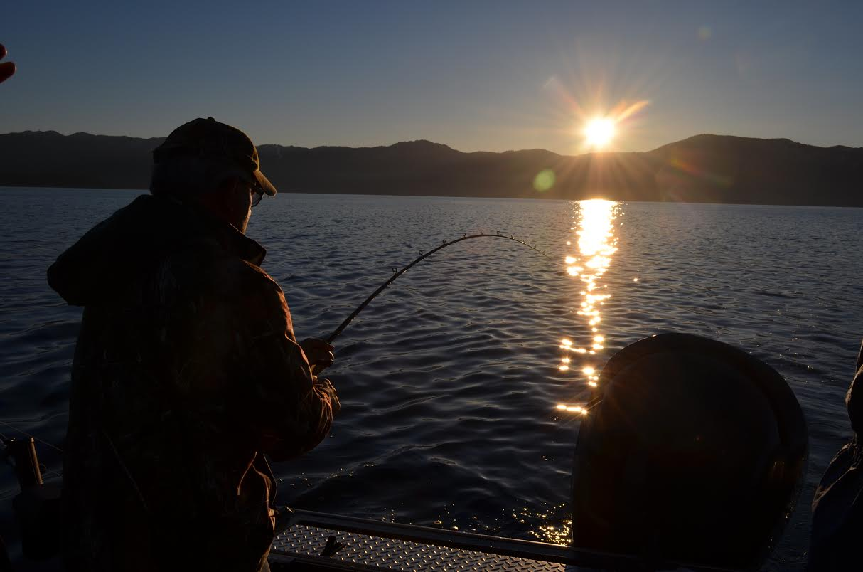 Spring bite fair to good for our Lake Tahoe fishing charters!
