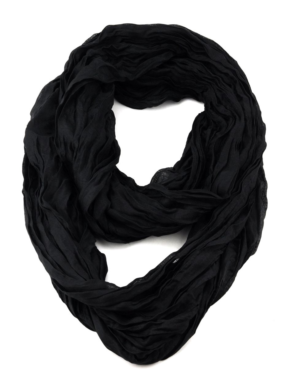 NYFashion101 Soft & Lightweight Solid Color Multifunction Loop Infinity Scarf