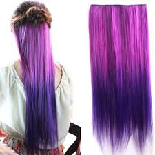 S03 Dip Dye Color Straight Hair Extension