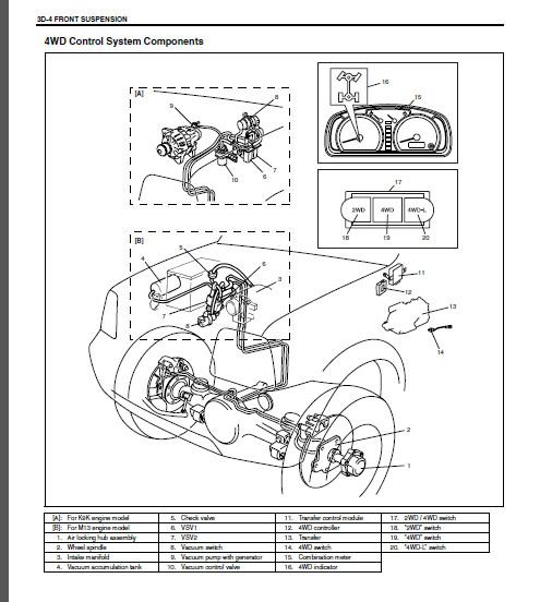 suzuki service manual gran vitara 2   SQ420VDSQ420WD With RHW Engine  JA420WD   eBay