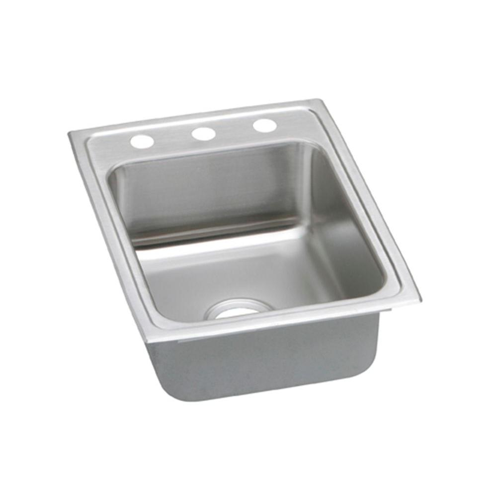 Elkay PSR17223 Pacemaker Top Mount Stainless Steel 17x22x7.25 3-Hole Single Bowl Kitchen Sink at Sears.com