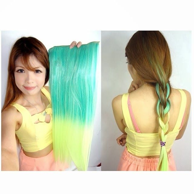 S05 Color Dip Dye Straight Hair Extension