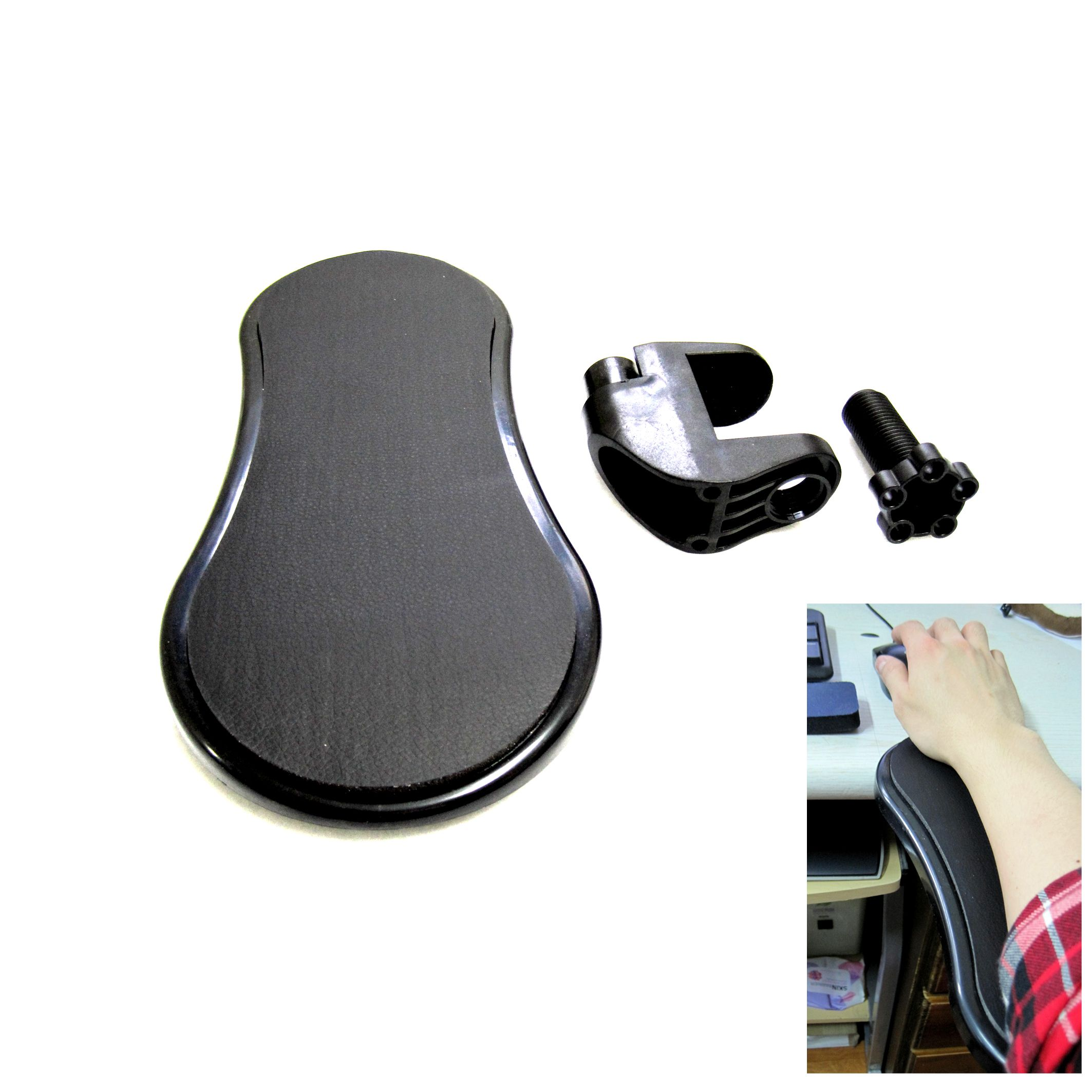 New Easy Arm Pad For Desk Or Chair Arm Rest Mouse Pad