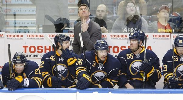 Among the offseason issues the Sabres need to address is the future of interim coach Ron Rolston.