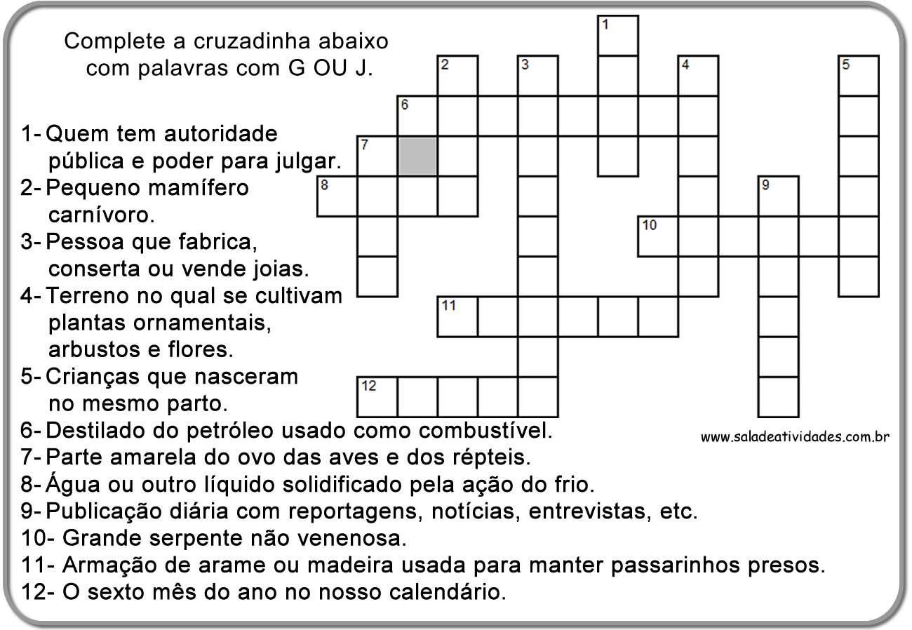 Para Imprimir  Atividades Educativas  Tarefas De Portugu  S