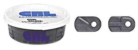 Bulk Package CRL Black Nylon Flush Screen Clips