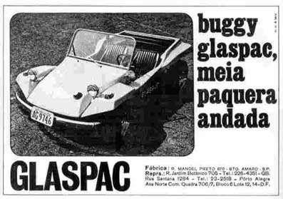 Buggy Glaspac. Meia paquera andada.