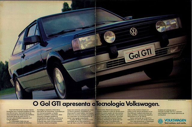O Gol GTI apresenta a tecnologia Volkswagen.