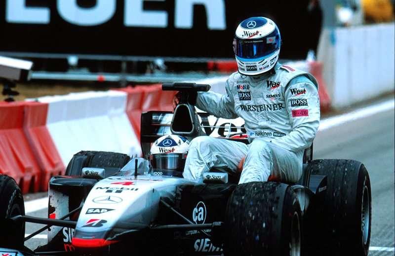 GP da Espanha de 2001: o finlandês Mika Hakkinen e o escocês David Coulthard