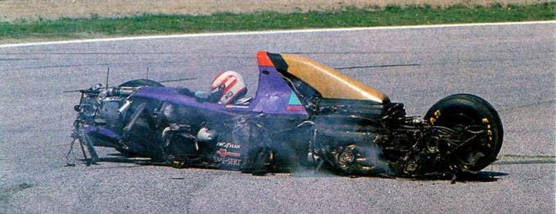 F1 1994 San Marino GP Roland Ratzenberger Crash