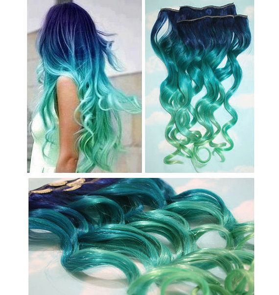 ombre curly hair extension 03