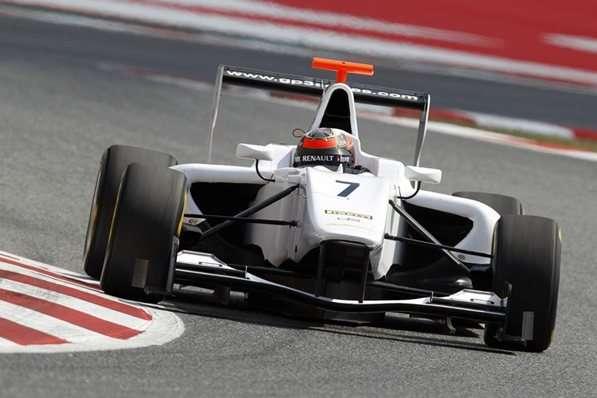 Lotus's Kimi Raikkonen tests a GP3/13 car, Barcelona, Spain, August 16, 2013 © GP2 Motorsport Ltd