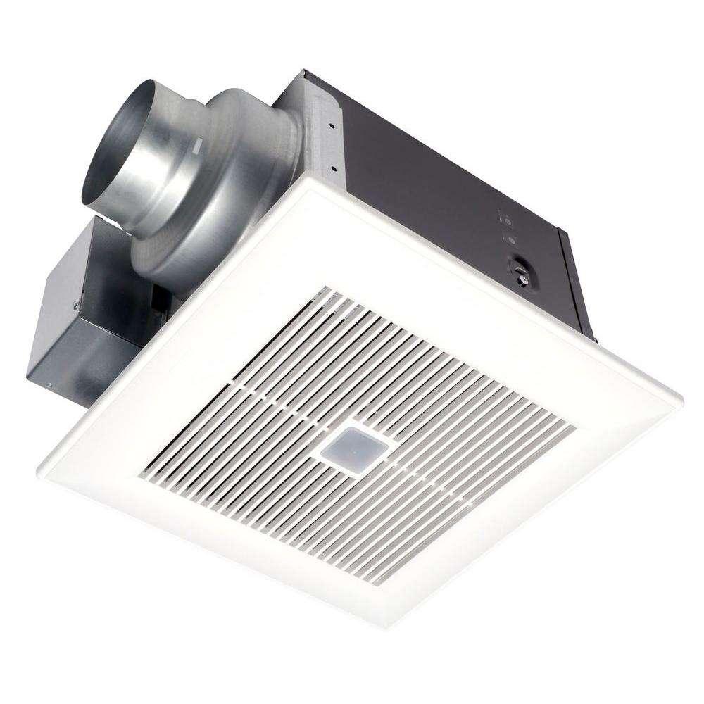 Panasonic FV-08VQC5 WhisperSense 80 CFM Ceiling Humidity + Motion Sensing Exhaust Fan w/ Time Delay ENERGY STAR*
