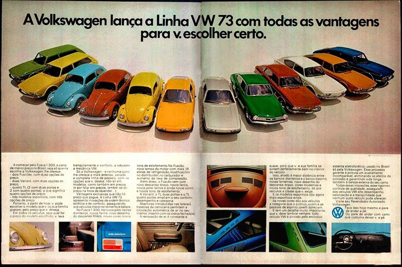 A Volkswagen lança a linha VW 1973 com todas as vantagens para você escolher certo.