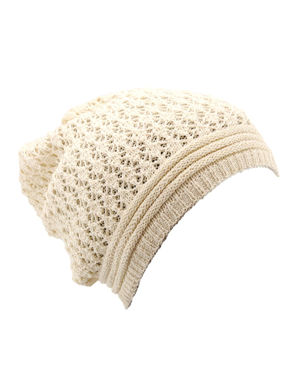 NYFashion101 Lightweight Unisex Solid Color Warm Open Knit Slouch Beanie Hat at Sears.com