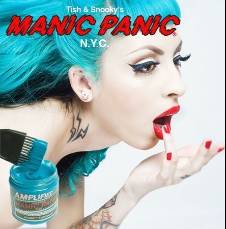 Manic Panic Atomic Turquoise Sample