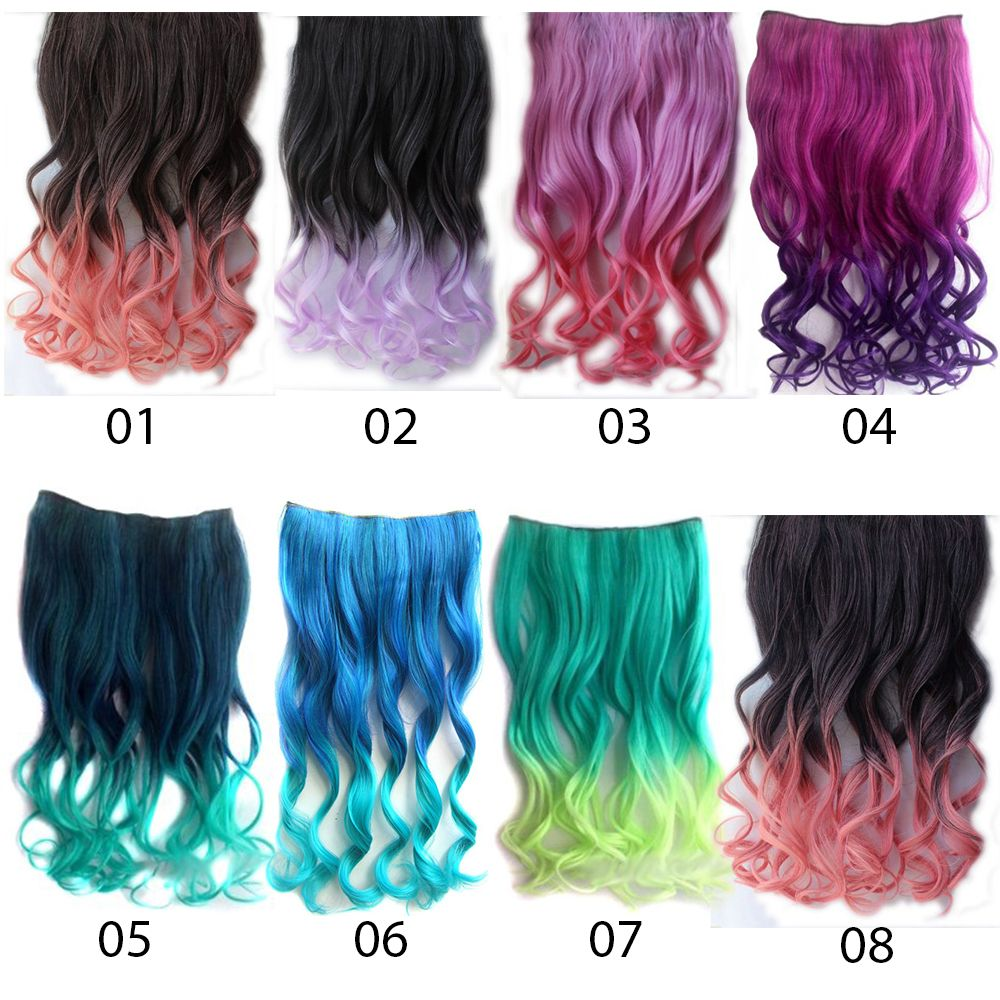 ombre curly hair extension 01