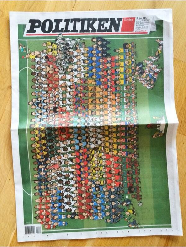 2014 FIFA World Cup Brazil Politiken Front Page
