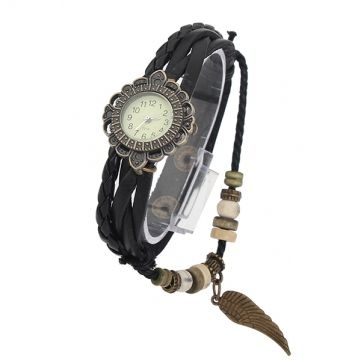 Reloj Pulsera Cuero Dije Para Dama Mujer