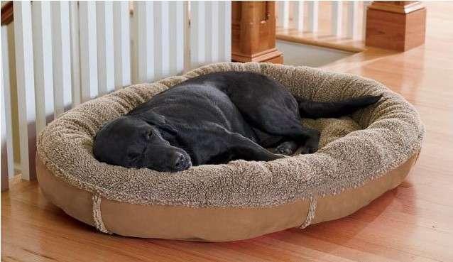 corbeille lit couchage panier coussin niche grand chien 90 x 75 cm accessoires chien chat animaux. Black Bedroom Furniture Sets. Home Design Ideas