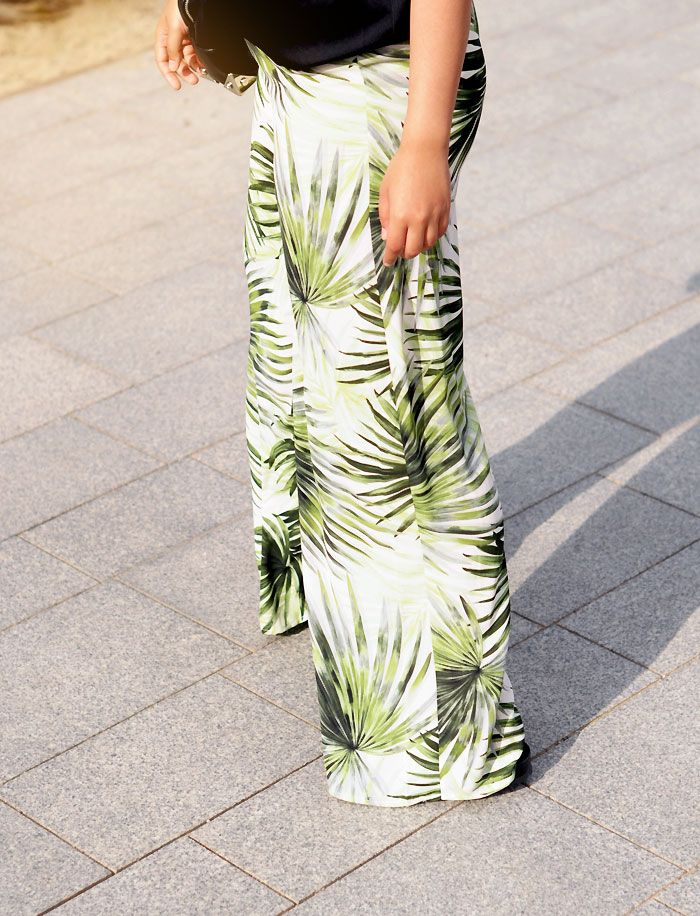 printed palm tree tropical trousers