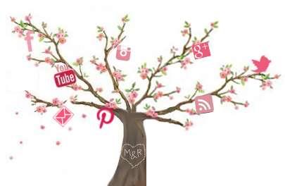 Cherry Blossom Social Icons