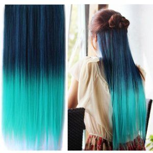 S02 Dip Dye Color Straight Hair Extension