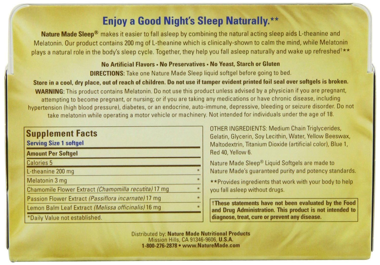Nature Made Sleep - All Natural Sleep Aid Drug-Free (NMSA) 02