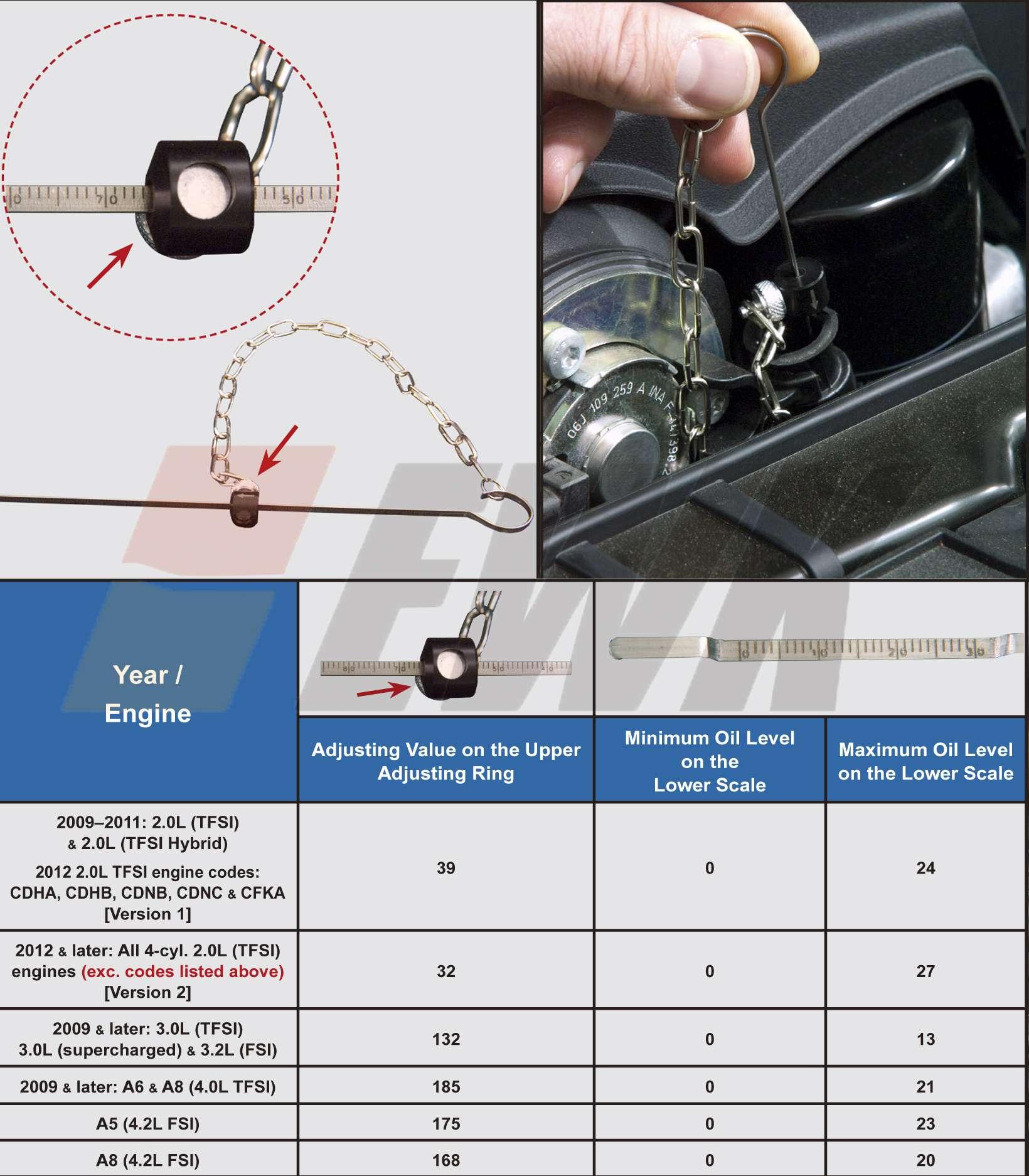 engine oil dipstick for 2009 up audi vw a4 a5 a6 2 0l 3 2l. Black Bedroom Furniture Sets. Home Design Ideas