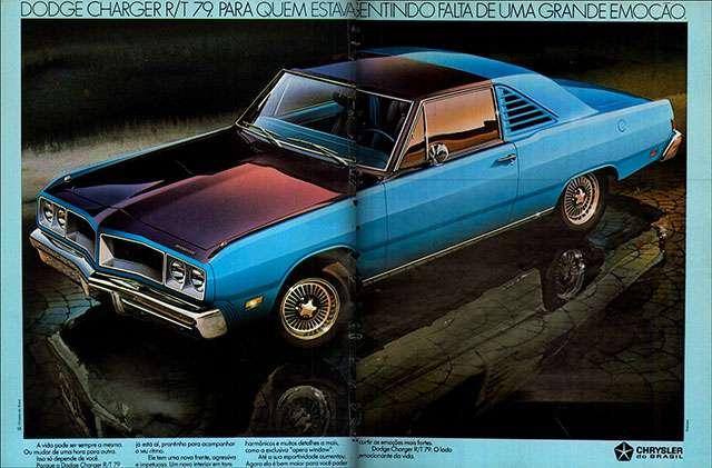 Dodge Charger R/T 1979. Para quem estava sentindo falta de uma grande emoção. Chrysler do Brasil.
