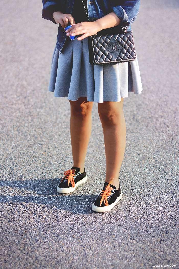 h&m scuba skirt