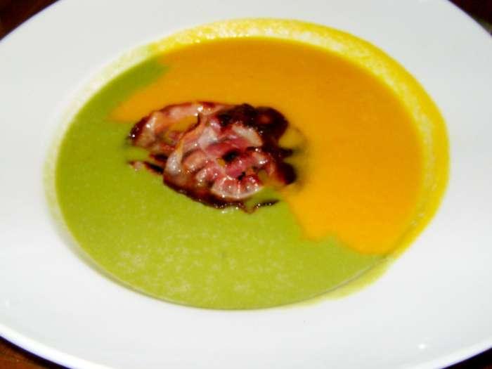 Minke maria kookt twee kleurige soep