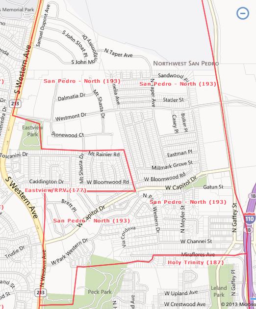 San Pedro North Area, San Pedro, CA  90731 and 90732