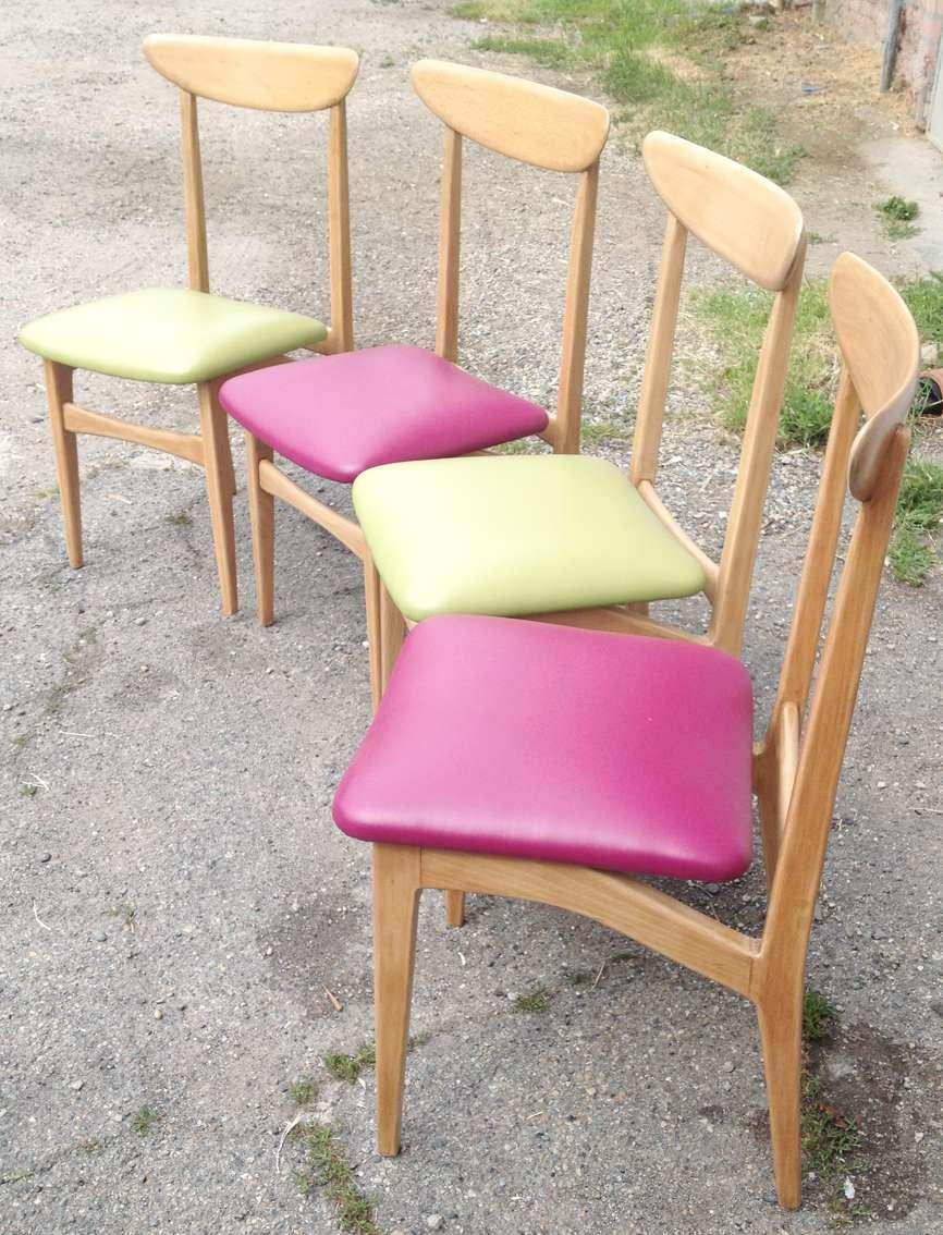 4 sedie anni 50 modernariato stile scandinavo in faggio e for Sedie stile scandinavo