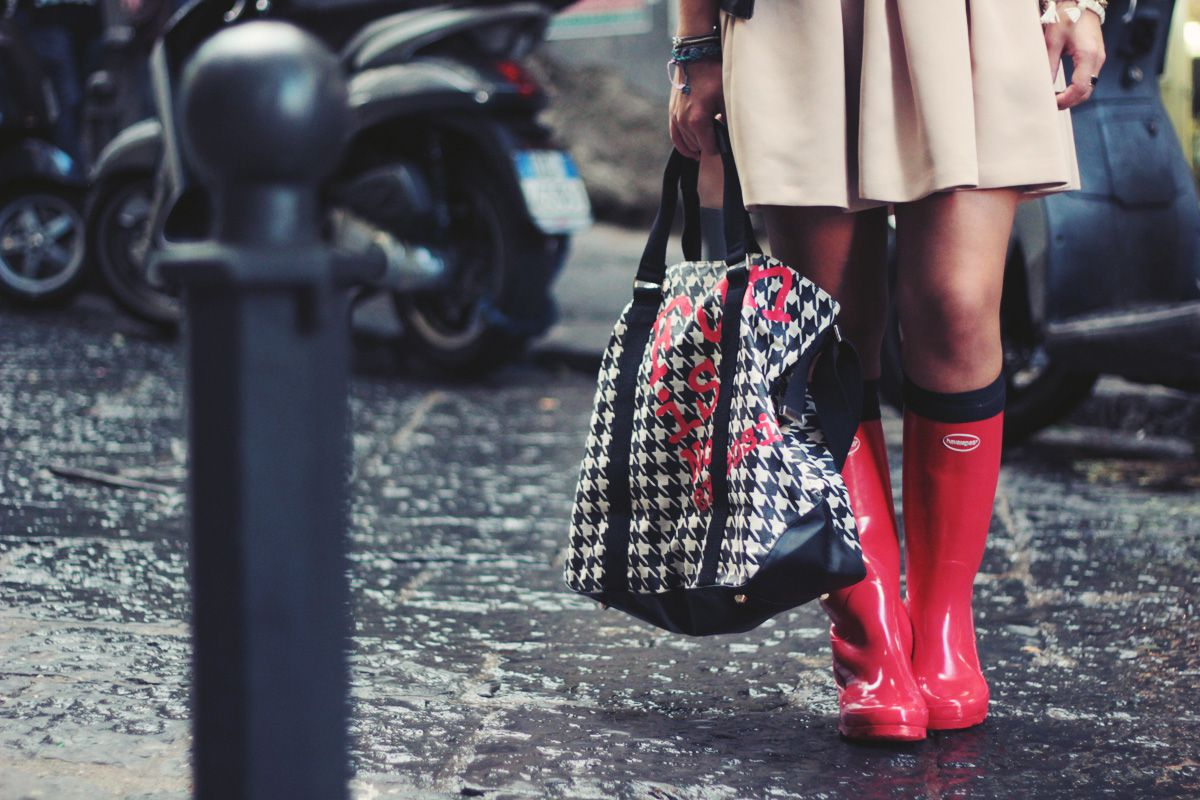 havaianas rain boots outfit